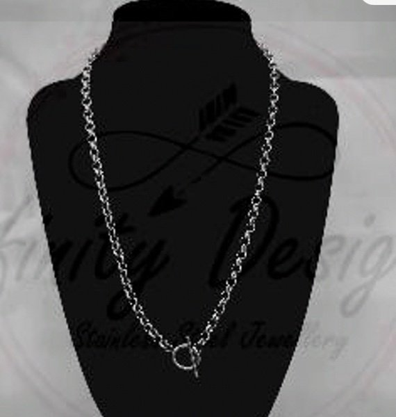 5mm 55cm stainless steel necklace picture