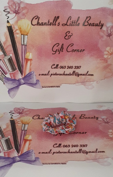 Cherise floral scrunchie picture