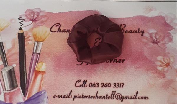 Burgundy scrunchie picture