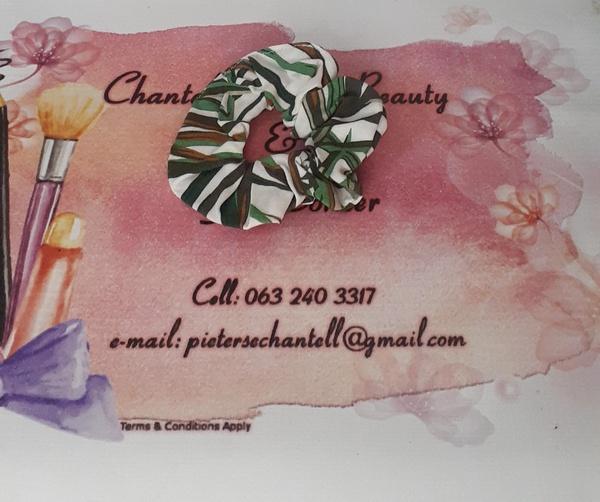 Green print scrunchie picture
