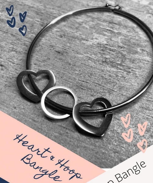 Heart and hoop bangle picture