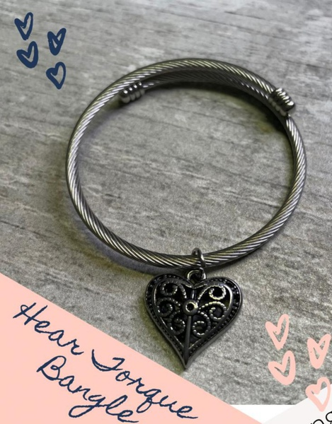 Heart torque bangle picture