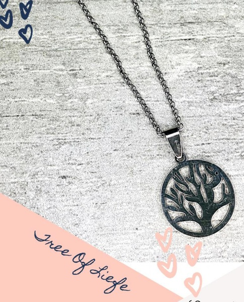 Tree of life necklace with pendants picture