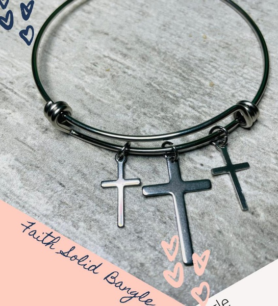 Faith solid bangle picture