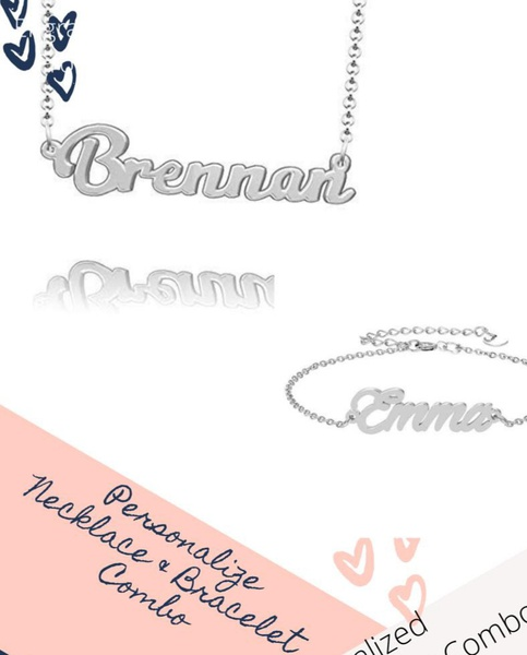 Personalized necklace & bracelet combo picture