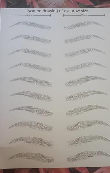 Eyebrow tattoo sticker picture