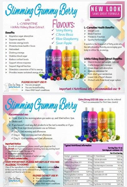 Gummy berry juice 250ml picture