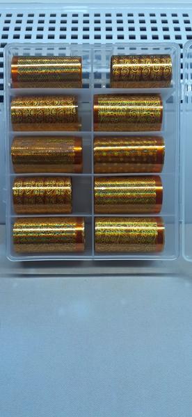 10pc gold foil set picture