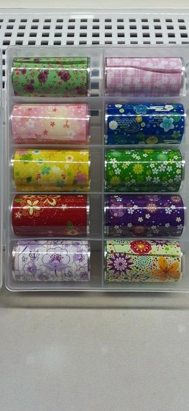 10pc flower foil set c picture
