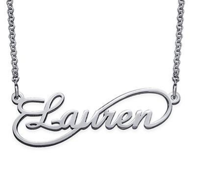 Infinity sign name necklace one name picture