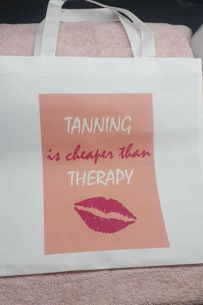 Tanning is cheaper than therapy picture