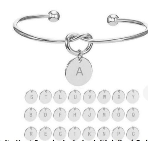 Infinity knot bangle ,includes initial disc ( only one  disc) picture