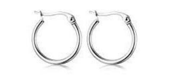 Hoop earings 25mm x 2mm picture