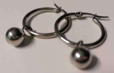 Hoop ball earings 30x2mm picture