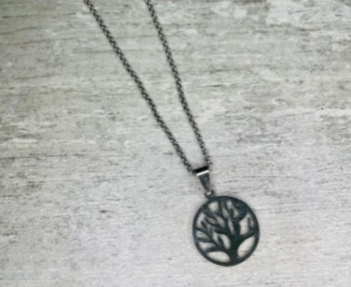 Tree of life chain with set of earings 55cm picture
