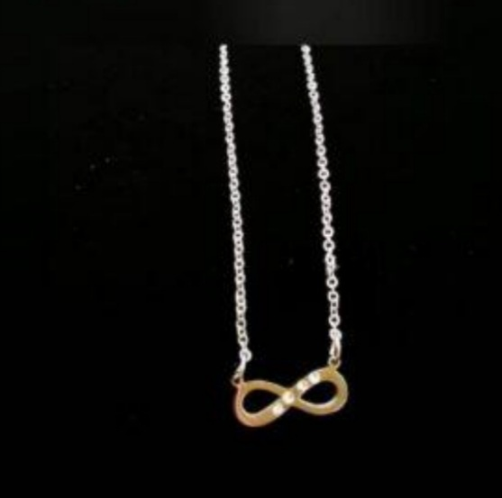 Infinity with bling necklace picture