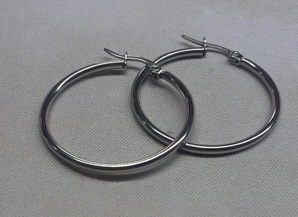 Hoop clip in earings 44x2mm picture