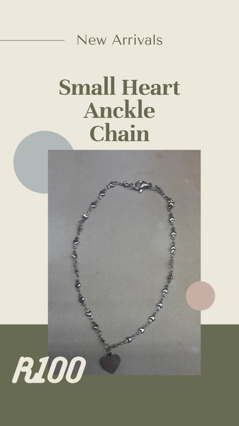 Anckle chain small heart picture