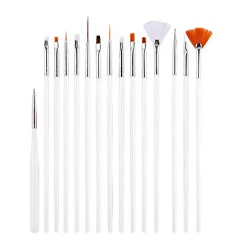 15pc art brush set picture