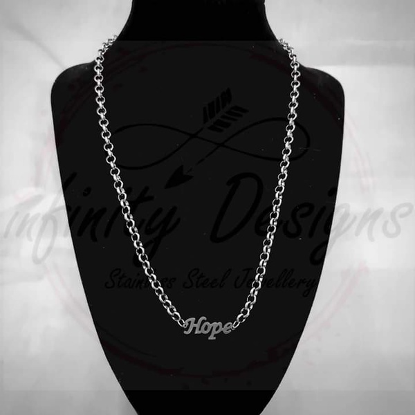 5mm 45cm stainless steel necklace hope picture