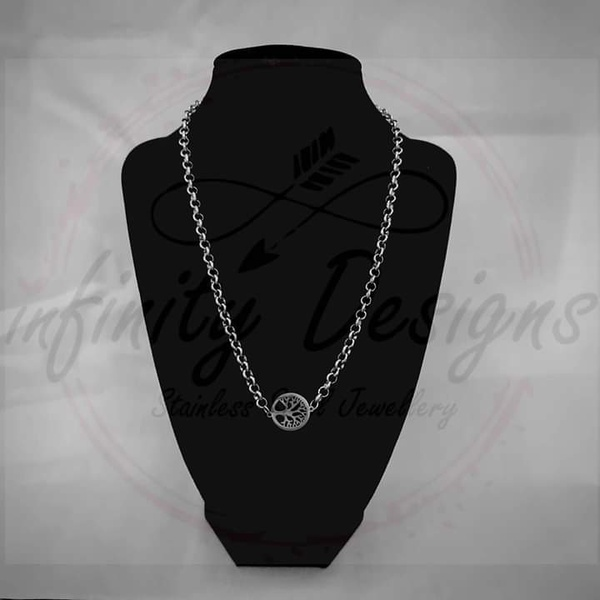 5mm 45cm stainless steel necklace tree of life picture