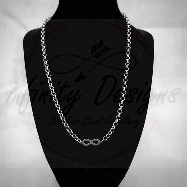 5mm 45cm stainless steel necklace infinity picture