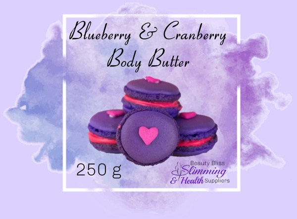 Blueberry & cranberry body butter 250g picture
