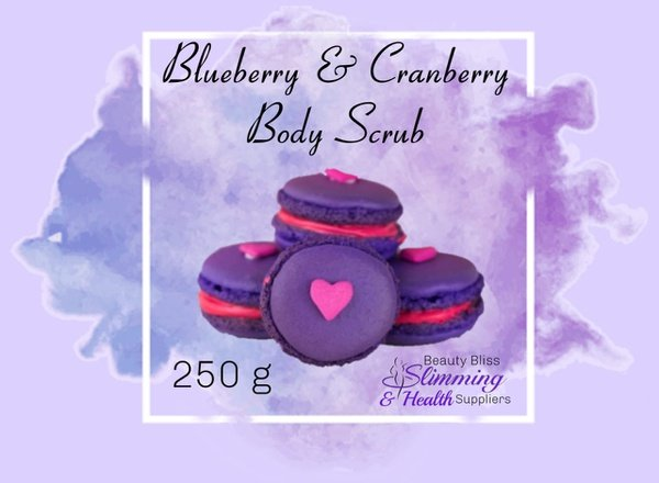 Blueberry & cranberry body scrub 250g picture