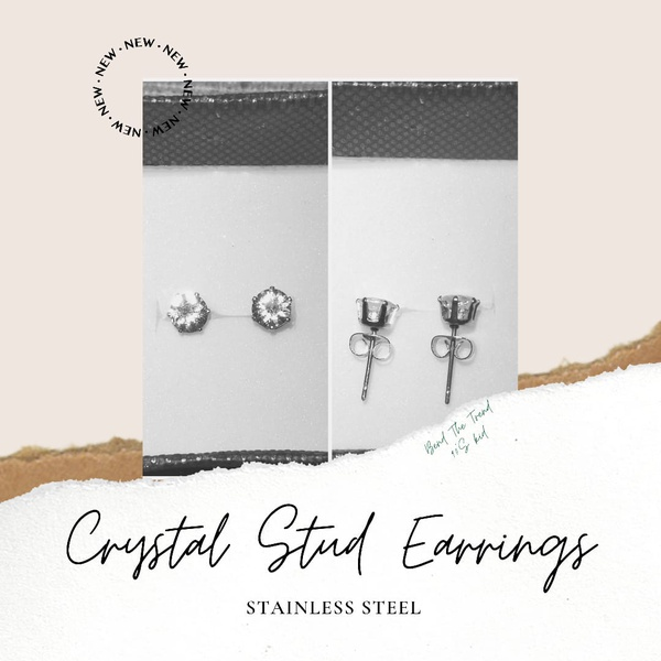 Crystal earing studs picture