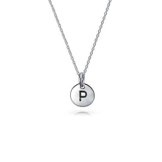 Necklace & initial disk one disk (engraving included, max characters 1 )  40cm – picture