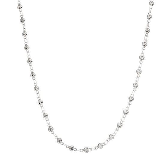 Closed heart necklace & bracelet includes a set of  earrings. picture