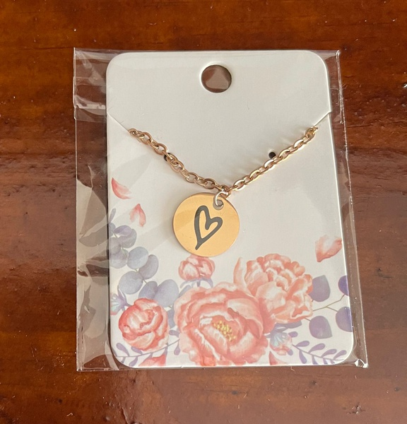 Rose gold heart necklace picture