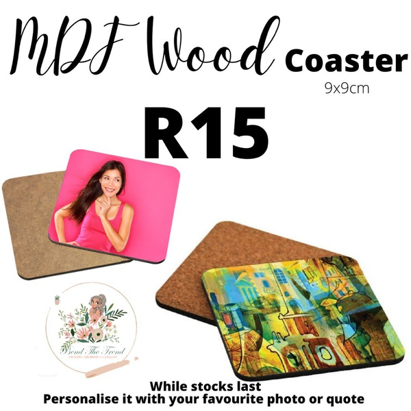 Mdf wooden coasters picture