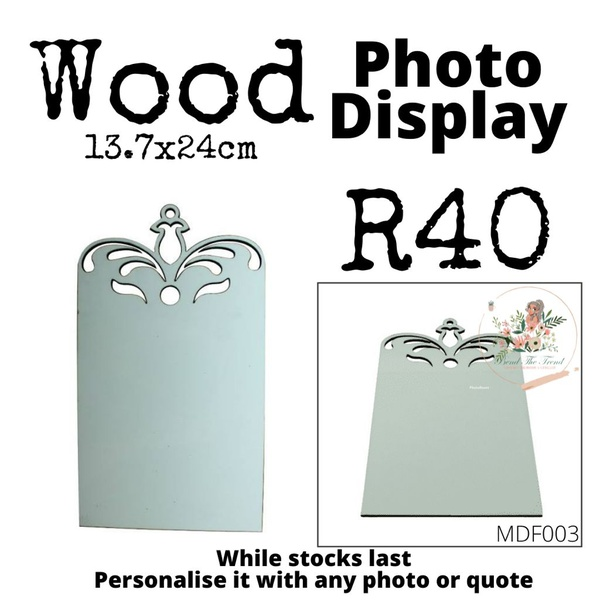 Wooden photo display picture