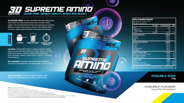 3d nutrition supereme amino picture