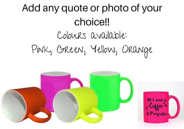 Personalize your neon mug now picture