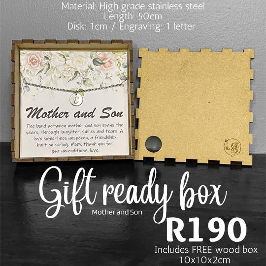 Mother & son gift ready box picture