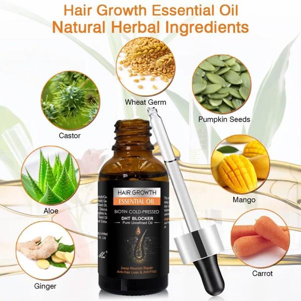 Hair growth essential oil serum & shampoo picture