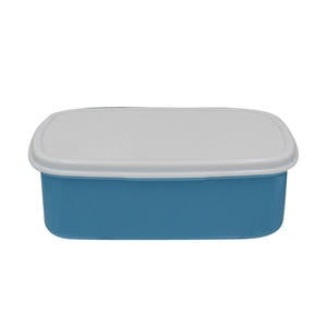Rectangular lunchbox blue picture