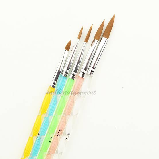 5pc acrylic brush set picture