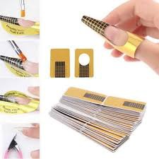 Nail forms gold std 100s picture