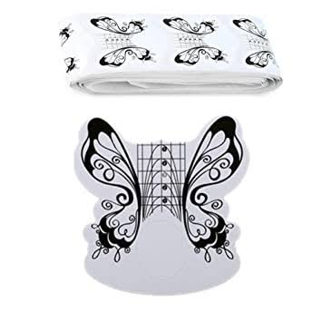 100pc butterfly nail forms picture