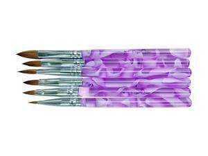 6pc acrylic brush set purple picture