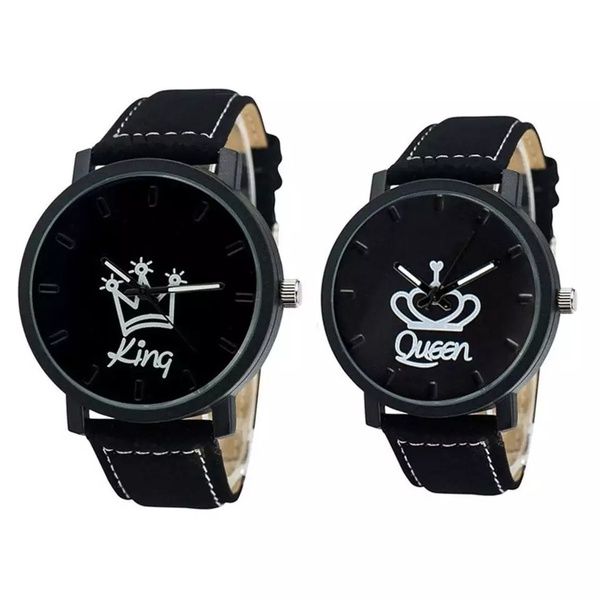King and queen couples watch set picture
