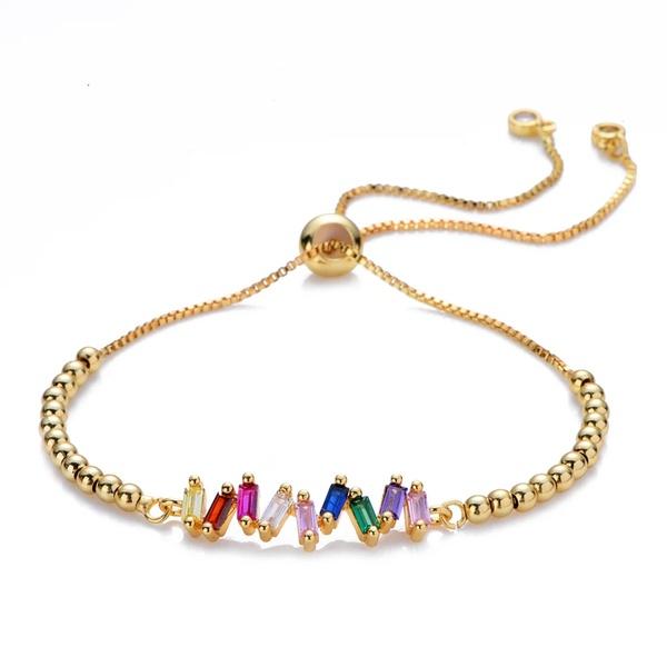 Multi colour tennis bracelet picture