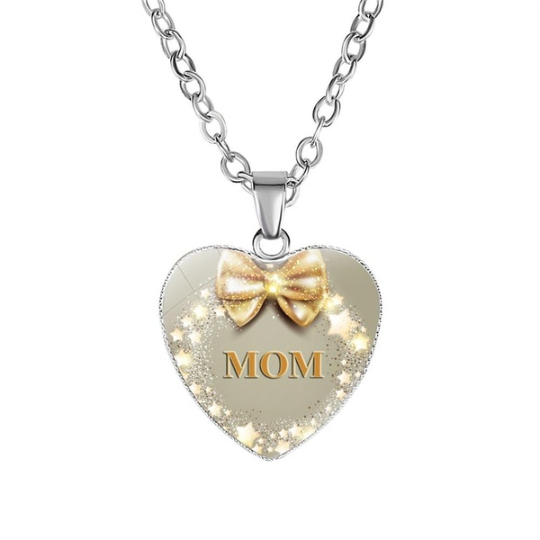 Bow and stars mom necklace picture