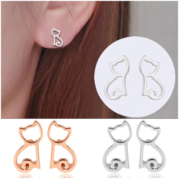 Cat earings picture