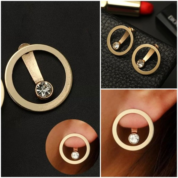 Floating diamond earing picture