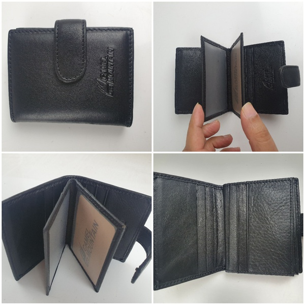 Leather card holder wallet picture