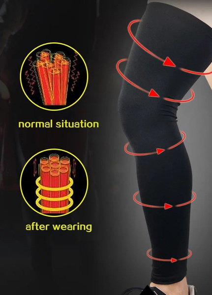 Sport compression leg sleeve picture